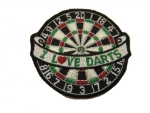 "Dartbadge ""l Love Darts etc"" Aufn�her"