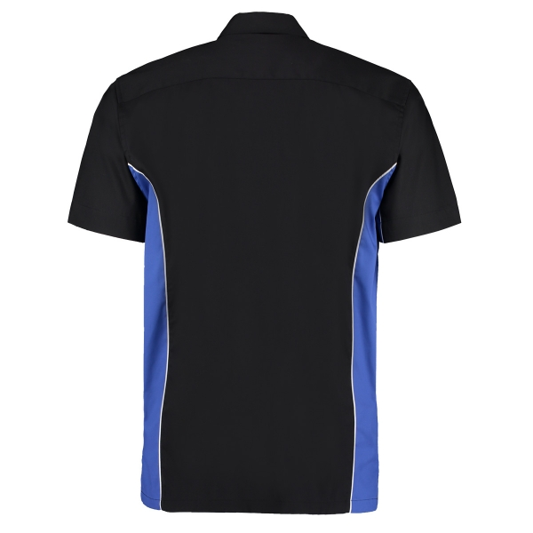 Darthemd TEAM SHIRT Kustom Kit Dart Shirt KK185 Schwarz/Blau Größe XL